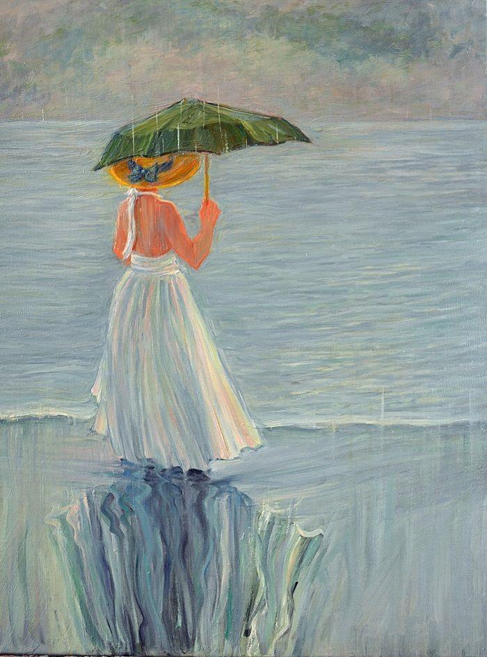 las obras de September McGee Lluvia de verano
