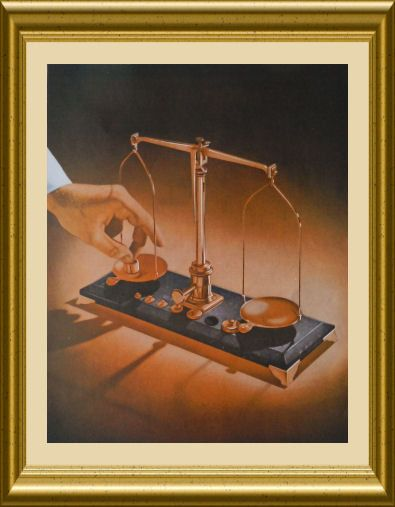 Office decor scales or naval or eaton mfg war print la monte safety paper