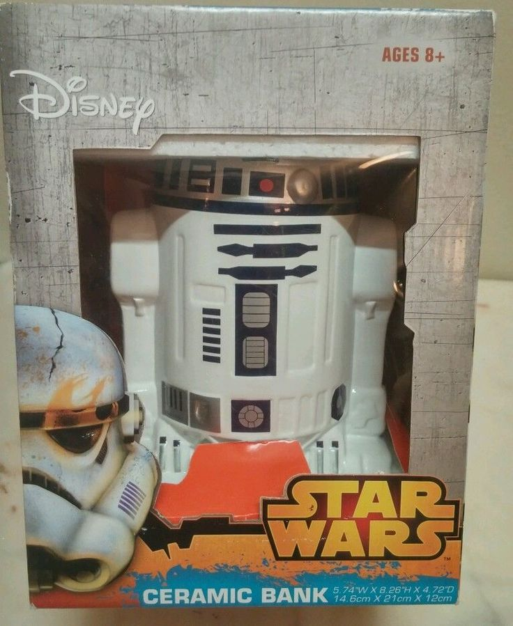 Disney Star Wars R2-D2 Ceramic Coin Bank 8 x 6  Collectible New in box 2014 8  #Disney