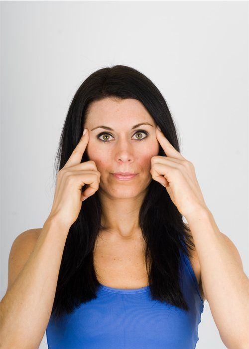 Face Yoga Exercises To Get Rid of Under Eye Wrinkles- Circle the eyes