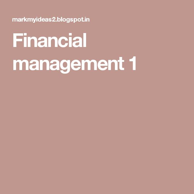 Financial management 1