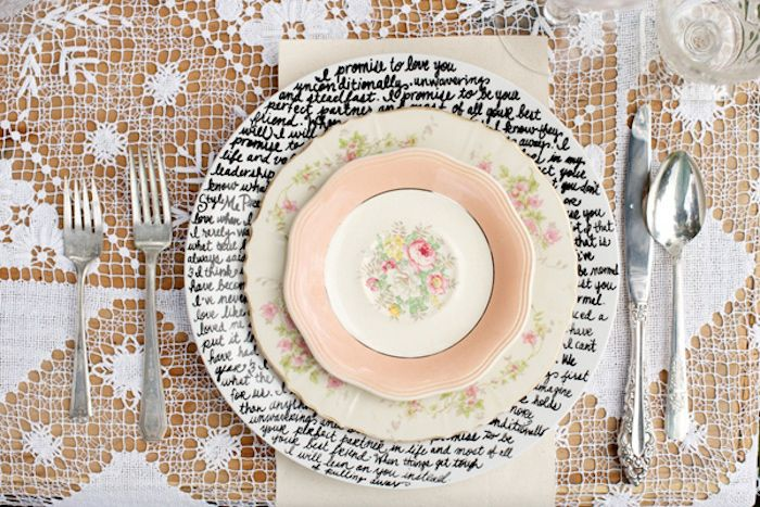 10 Ideas for Charger Plates   Intimate Weddings - Small Wedding Blog - DIY Wedding Ideas for Small and Intimate Weddings - Real Small Weddings