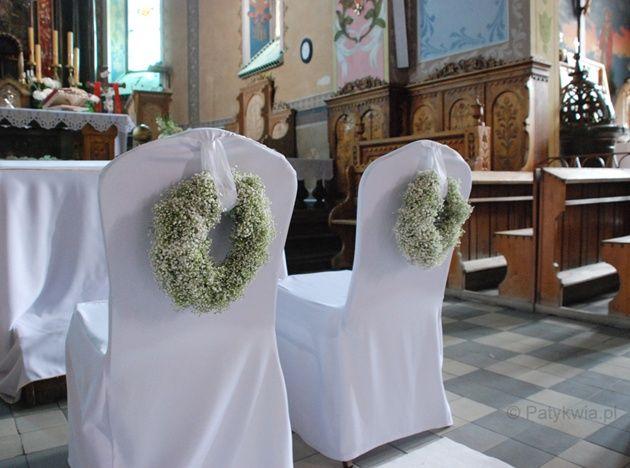 dekoracje ślub gipsówka