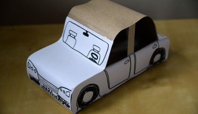 Samochód z pudełka po chusteczkach