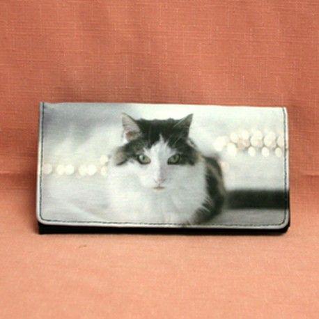portefeuille avec motif chat angora turc