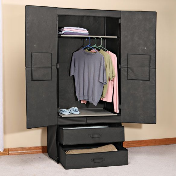Clothing Wardrobe with Magnetic Doors - Portable Wardrobe - Walter Drake