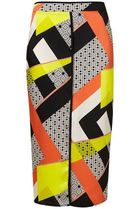 Fun!Scarf Prints, Slip Skirts, Fashion, Style, Prints Skirts, Scarves, Pencil Skirts, Topshop Scarf, Prints Slip
