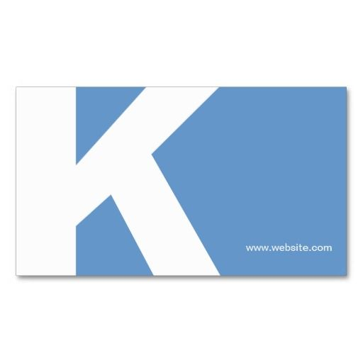 100 best 100 creative blue business cards for your inspiration bold initial monogram light blue business card template personalize the front and back with your own info flashek Images