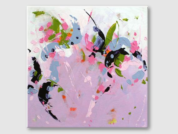 Abstract painting by Svetlansa #painting #abstract #svetlansa #homedecor #pink  #blue #purple #artwork #wallart #abstractart