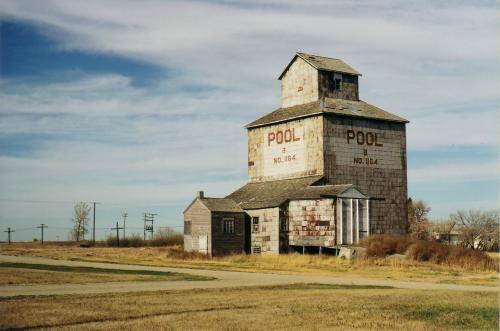 Built in 1895, this grain elevator in Fleming, Saskatchewan is the oldest existing elevator in western Canada. .. source David McLennan