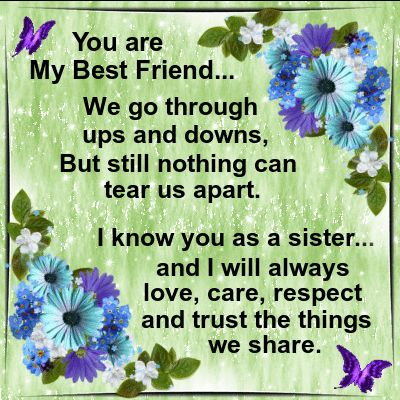 Friendship/Best Friend section. This ecard can be sent to your best friend! Permalink : http://www.123greetings.com/friendship/best_friends/love_care_respect_and_trust.html