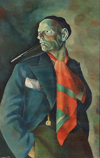 Self-Portrait,1932 by Vilho Henrik Lampi (Jul 19, 1898 - Mar 17,1936): Finnish painter best known for self-portraits & paintings of Liminka & the people who lived there.