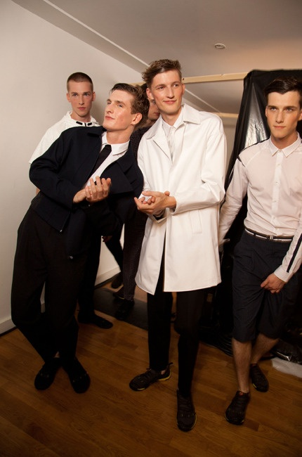 Mouth-watering Models #Backstage #ChristianLacroix Menswear Spring-Summer 2013 fashion show