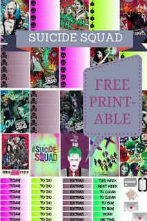FREE Printable Stickers for your Planner: Suicide Squad! Available as a PDF File and Silhouette Cut File Downloads at Uncommon Plans Blog