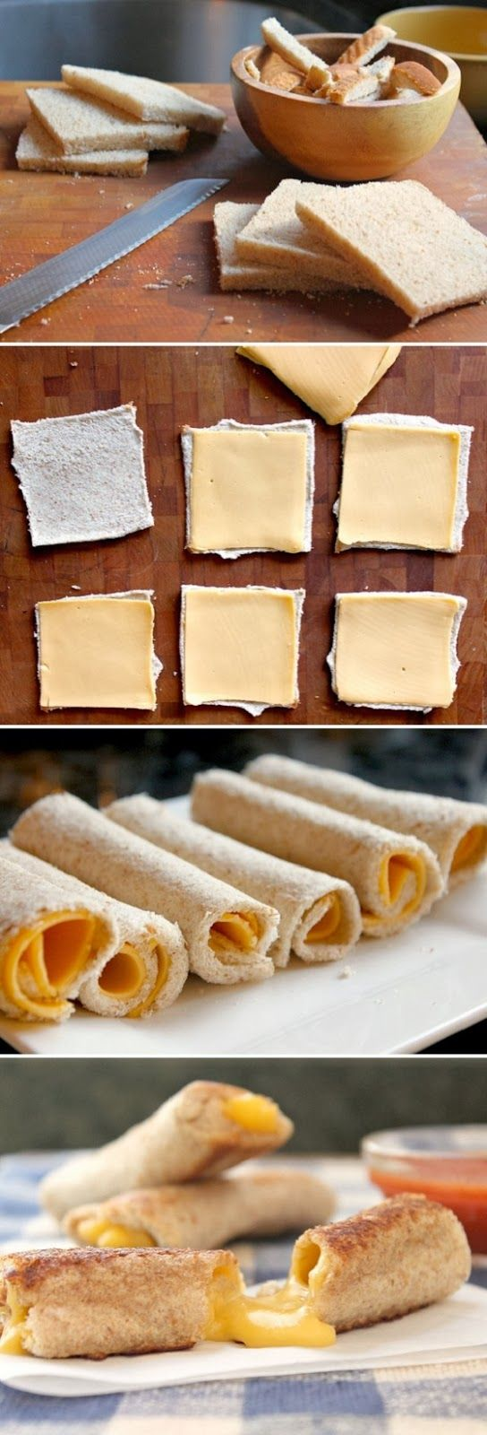 Grilled Cheese Rolls- @Andrea Ross We need to try this for Zoe!!