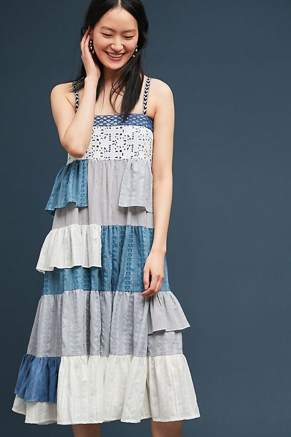 9452f9e6d468 Slide View: 3: Tiered Patchwork Midi Dress Summer Clothing, Anthropologie,  Ss,