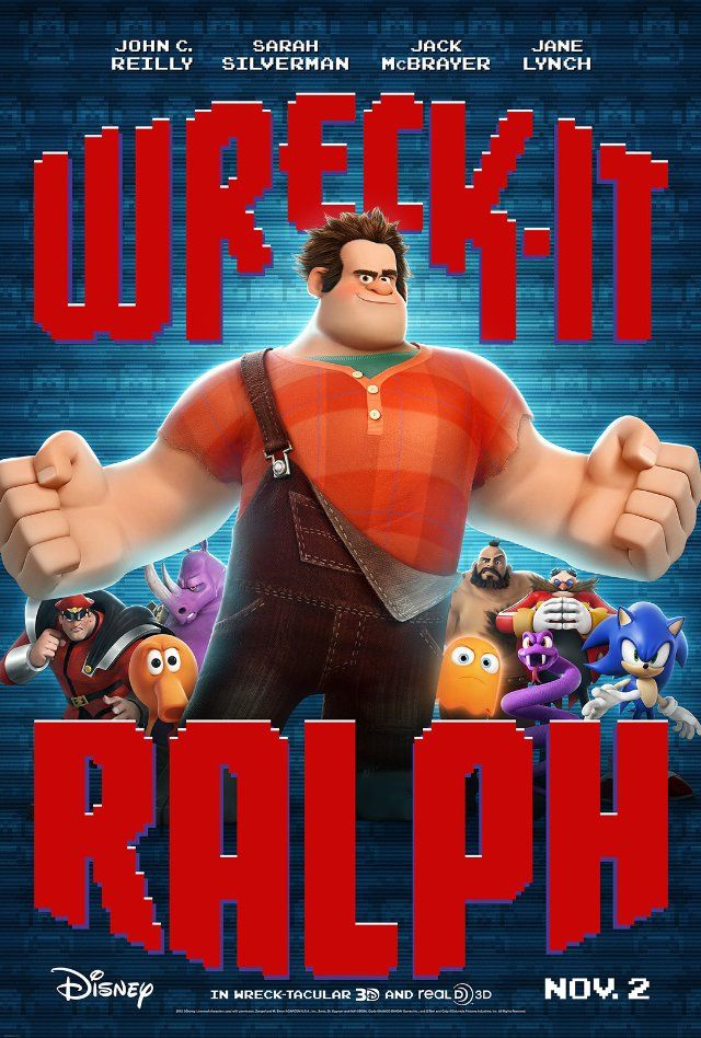 Wreck-It Ralph is a REALLY GOOD movie, animated or not. A+ for creativity and story line. Super fun cute and witty. A damn good time with plenty of good moral lessons to be had.