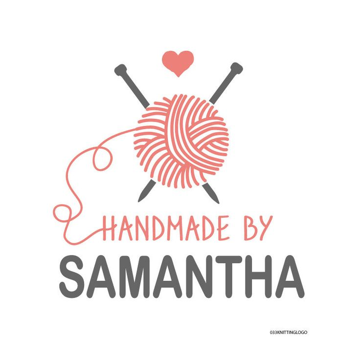 Premade Knitting Design for use on Label, Tag, Stationery, Business Card by rsvplove on Etsy https://www.etsy.com/listing/194441090/premade-knitting-design-for-use-on-label