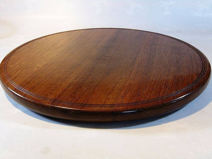 Lazy Susan made from rescued Kwila Timber..Turned on the lathe  Finished with a friction wax polish.