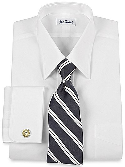 My first custom dress shirts trim fit pinpoint Straight collar dress shirt
