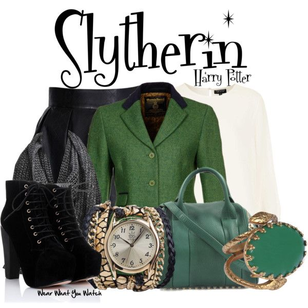 """Slytherin (Harry Potter)"" by wearwhatyouwatch on Polyvore"