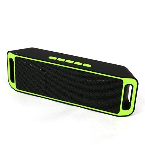 Deals week  Neissstar Portable Wireless Speaker Bluetooth 4.0 Stereo Subwoofer Built-in Mic Dual Speaker Bass Sound Speakers Support TF USB FM Radio (Green) Best Selling