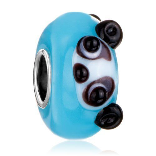 Pugster Cute Panda Blue Murano Glass Charm Bead Fits Pandora Charm Bracelet Pugster. $2.79. Measures 14 mm x 7 mm. Unthreaded European story bracelet design. Pandora, Biagi, Chamilia Bead Compatible. Free Jewerly Box. Murano Glass Bead. Save 78%!