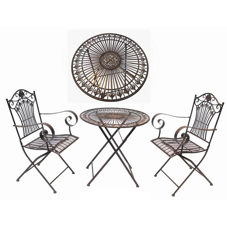 Find This Pin And More On Out Door Furniture Marquee 3 Piece Rustic Iron Bistro Setting