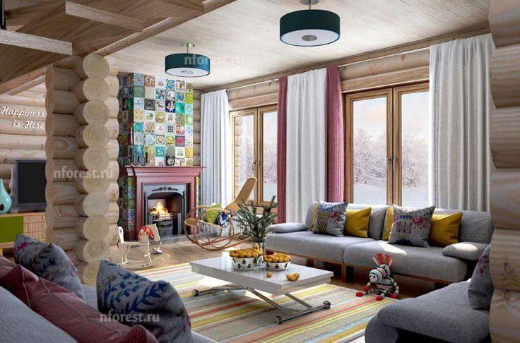 #каталогидей@dom.north.forest     Как меняется интерьер, если использовать разные цветовые решения.    Например слева яркие акценты: желтые подушки, контрастирующие с серым диваном и белый стол. Справа - тот же интерьер, но уже с более мягкими оттенками как в цвете стен, так и в текстиле.    ☎ +7 (495) 220-26-17     #дизайн #дом #дача #март#уют #тепло #камин #второйсвет #northforest #деревянныйдом #домизбревна #домизбруса #интерьер