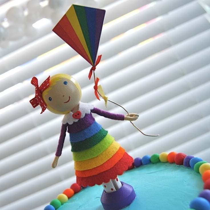 Rainbow Cake Decorations Uk : 12 best images about Rainbow birthday cakes on Pinterest ...