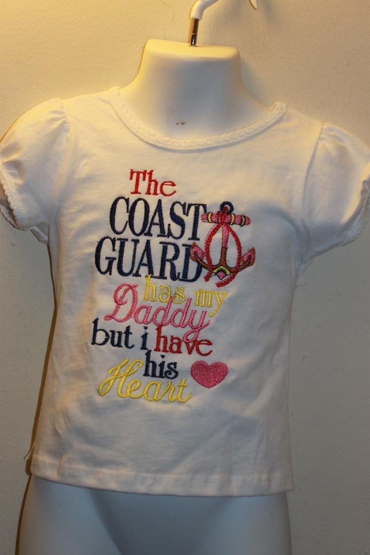 Something for the Coast Guard.Coast Guard, Crafts Ideas, Coastie Life, Guard Wife, Guard Life, Girls Clothing, Coastie Wife, Christmas Ideas, Coastie Stuff