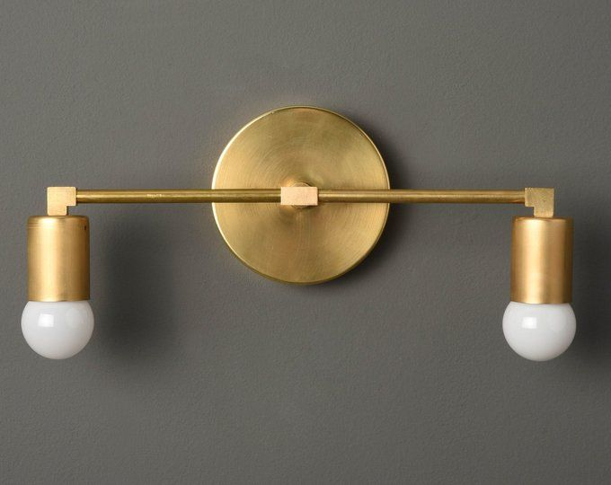 Gold Vanity Light Modern Wall Sconce Bathroom Vanity Light Etsy Bathroom Wall Sconces Wall Sconces Gold Wall Lights