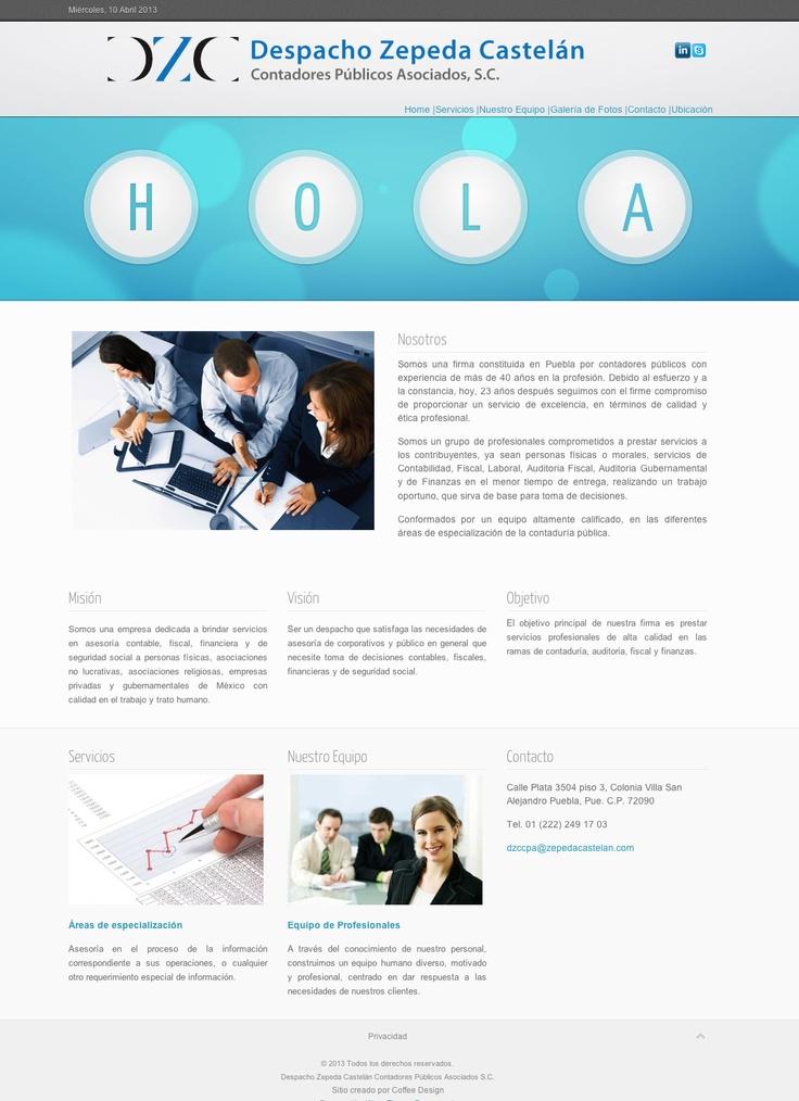 Diseño web Cliente: Despacho Zepeda Castelán Contadores Públicos Asociados, S.C.