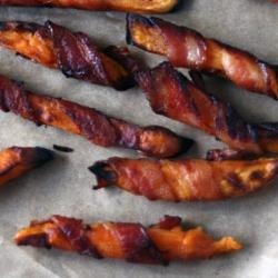 161391 - Bacon Wrapped Sweet Potato French Fries!!!