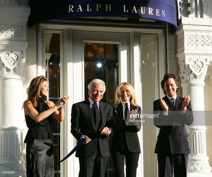 Dylan Lauren, left, Ralph Lauren, chairman of Polo Ralph Lauren Corp., Ricki Lauren, and David Lauren, attend the opening of a Ralph Lauren store in Moscow, Russia, Wednesday, May 16,2007. Polo Ralph Lauren Corp., the U.S. maker of Ralph Lauren and Club Monaco clothes, opened its first two stores in Moscow this week to tap rising demand for luxury goods in Europe's largest city.