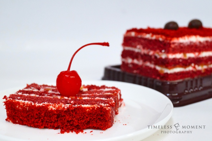 Red velvet cake by Timeless Moment Photography