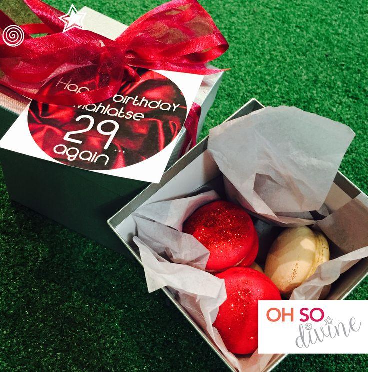 oh so divine macaron birthday gifts