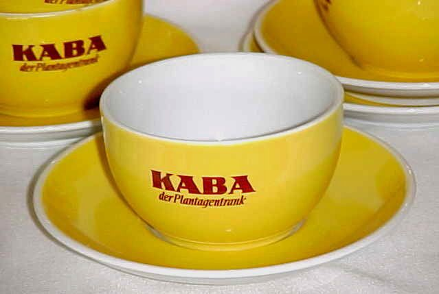 1 Tasse mit Tellerchen KABA der Plantagentrank Kakao Porzellan Schönwald | eBay