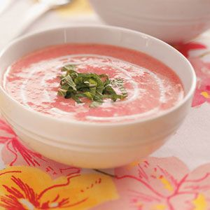 Summer Strawberry soup- new summertime favorite. I love cold soups in the summer as much as hot soups in the fall and winter!!