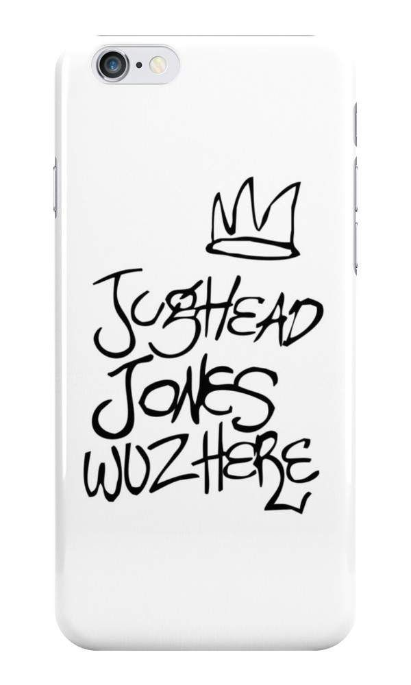 Our Jughead Jones Woz Here - Riverdale Phone Case is available online now for just £5.99. Fan of the hit Netflix series, Riverdale? You'll love this Jughead Jones Woz Here phone case, available for iPhone, iPod & Samsung models. Material: Plastic, Production Method: Printed, Authenticity: Unofficial, Weight: 28g, Thickness: 12mm, Colour Sides: White, Compatible With: iPhone 4/4s | iPhone 5/5s/SE | iPhone 5c | iPhone 6/6s | iPhone 7 | iPod 4th/5th Generation | Galaxy S4 | Galaxy S5 | Ga