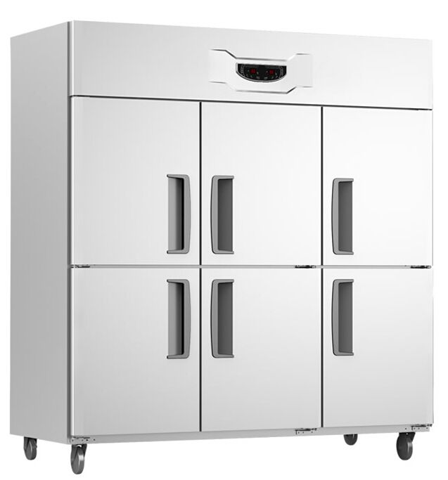 -5~5/ -15~-5 GT1.6L6ST Six dual temperature refrigerator stainless steel Commercial Kitchen freezer