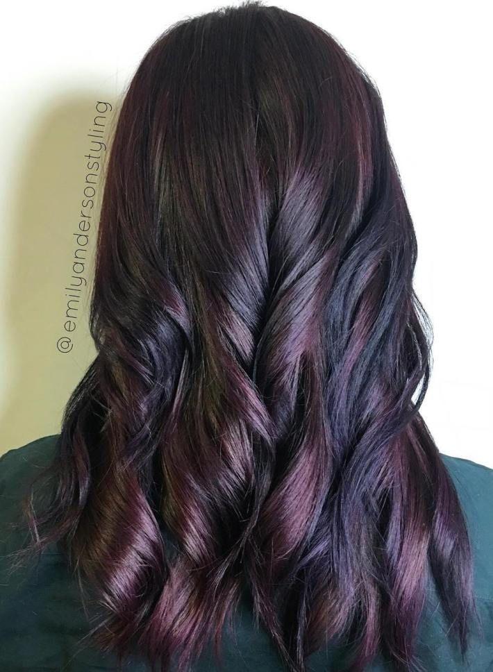 plum black hair ideas