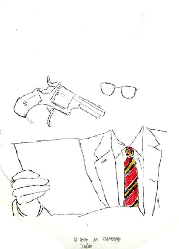 TADINI Emilio, Senza titolo Milano,  Grafica Uno. Litografia originale a colori. Note a matita dell'Artista per la tiratura finale. Firma a matita. Timbro a secco dell'Editore Giorgio Upiglio