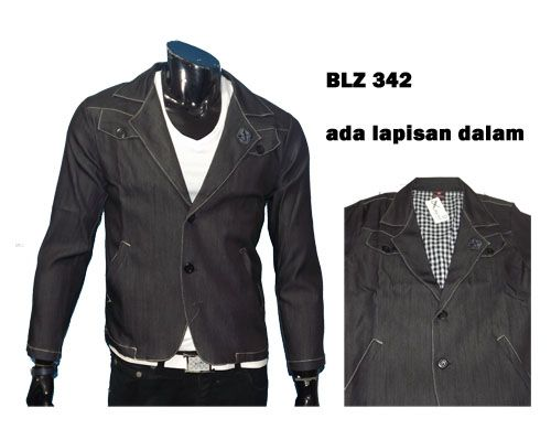 blz342 @195 bahan jeans all size