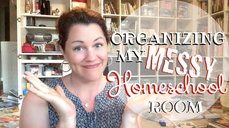"Organizing My Messy Homeschool Room by Kristi Clover of Raising Clovers on YouTube-- ""BAM!"" That's the sound I hear when I look at my homeschool room right now. It looks like a bomb went off in it. Yet, believe it or not, there is a method to my messy madness. Check out my tips on how to get your homeschool space organized."