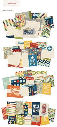 Simple Stories - SNAP Collection - 4 x 6 Cards - Urban Traveler at Scrapbook.com