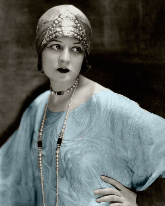 Silent film actress Lenore Ulric 1920's flapper panache ~ by Edward Steichen for the March 1926 issue.
