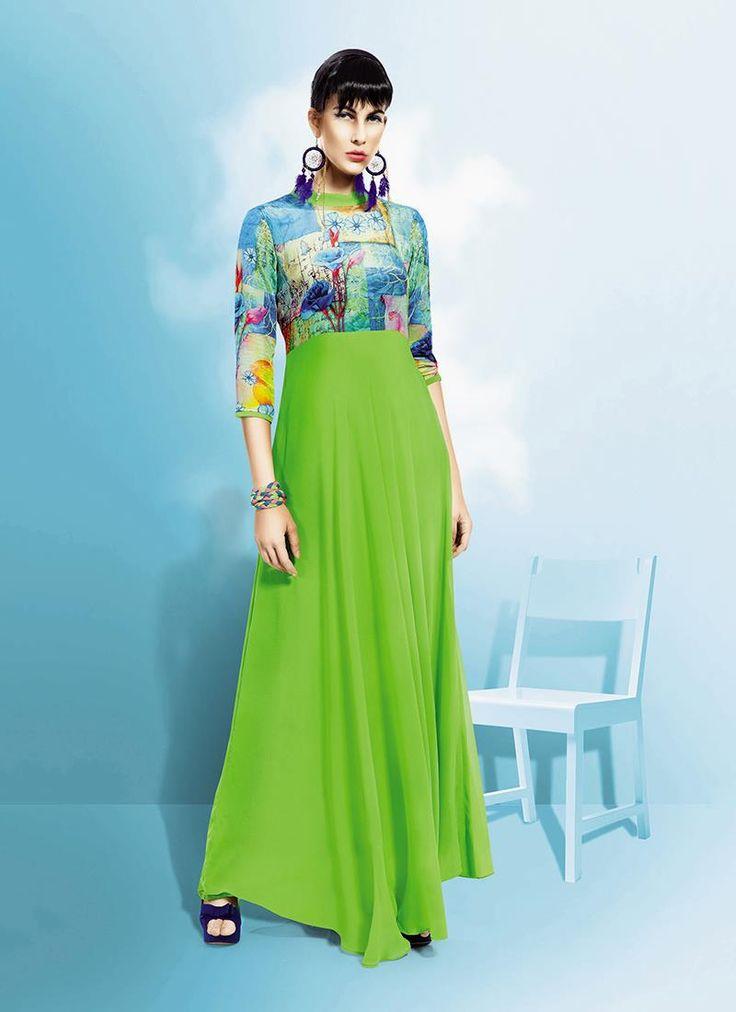 Buy salwar kameez online, trendy salwar kameez that serve for fashion and style. Grab this aesthetic georgette anarkali salwar kameez for festival and party.