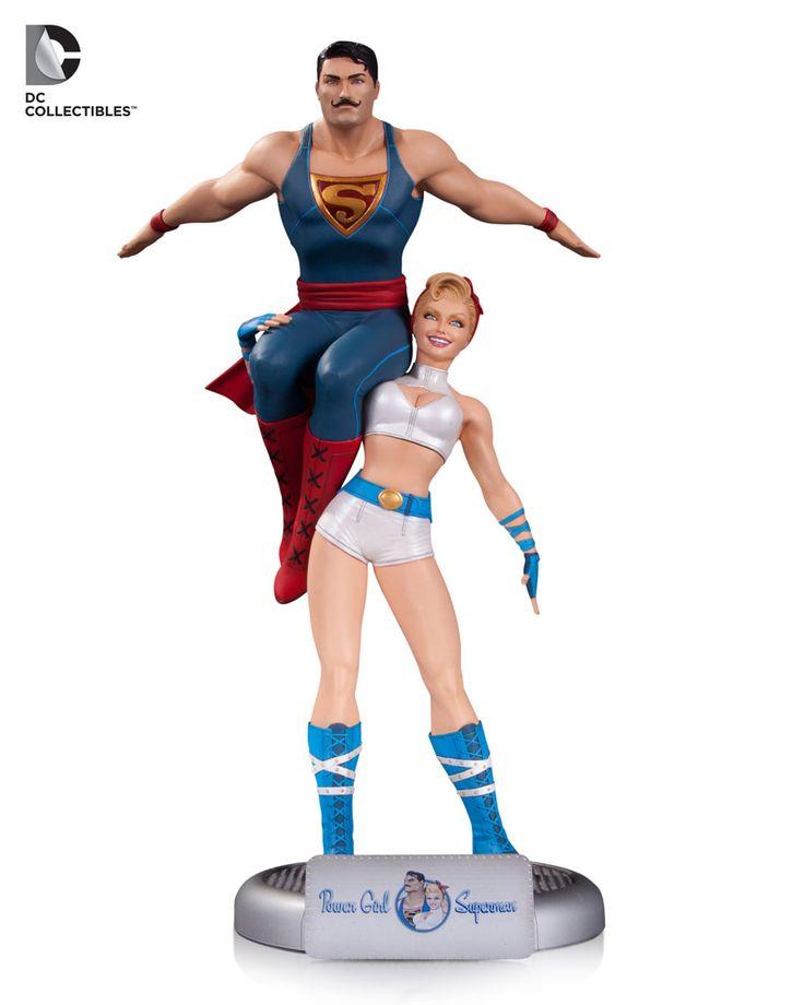 DC Bombshells Statue Power Girl and Superman