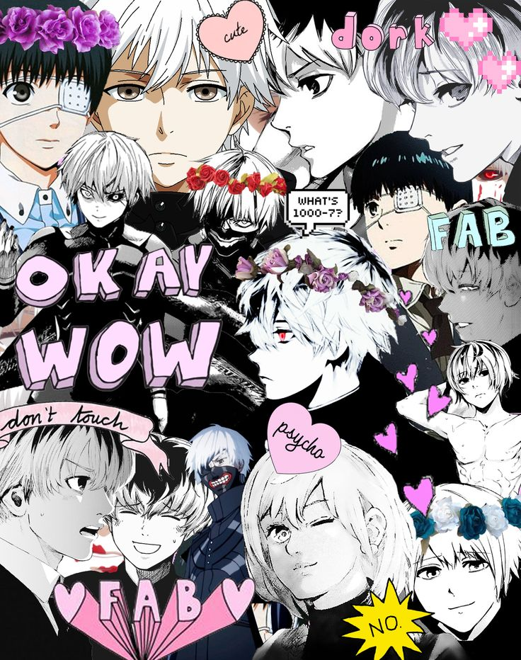 Tokyo Ghoul - Ken Kaneki commonly known as cinnamon roll Credits to whoever did this